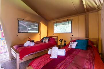 The twin room has 3 foot beds to fall into at the end of a fun-packed day.