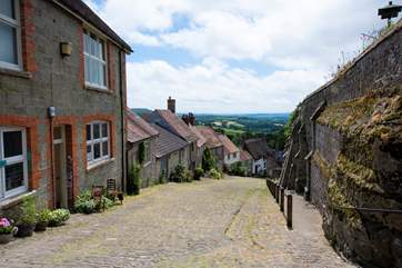 Gold Hill, featured in a Hovis advert many years ago.