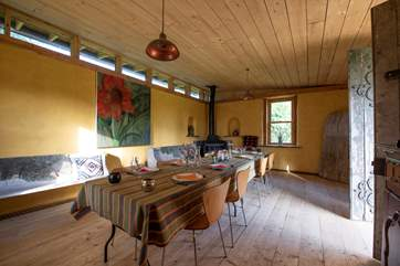 There is seating for 20 in The Bothy, perfect for gatherings.