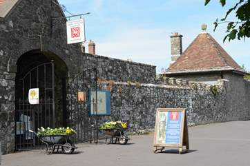 Shaftesbury Abbey is well worth a visit, set in a Medieval walled herb garden.