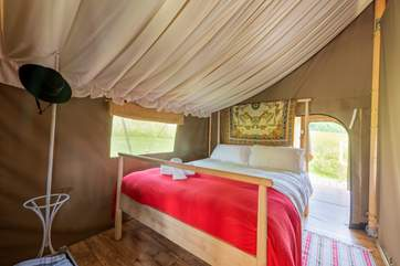 Your super comfy double bed awaits you after a day of fresh air and exploring.