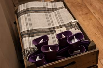 There are even thoughtfully-provided hot water bottles and blankets for the cooler months.