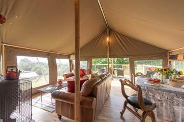 So much thought and care has been put into this luxury tent.