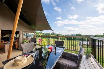 Murciano has great views across the farm and the surrounding countryside.