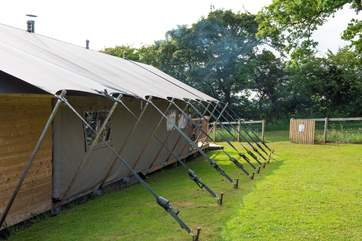 These magnificent tents ae built upon an insulated base, so stay warm and snug.