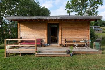 The Bothy is a delightful building, ideal for family gatherings, communal activities or classes - it is available if you have booked the whole site.