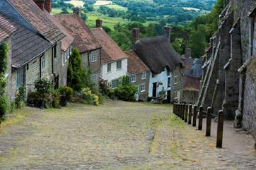Gold Hill, this iconic shot proves that Shaftesbury really is a hilltop town.