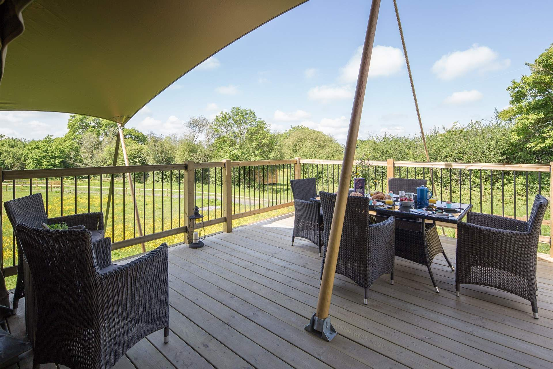Magnificent views from the deck over the Blackmore Vale. This spacious safari tent ... & Gascon Safari Tent Reviews | Read Reviews Of Gascon Safari Tent In ...