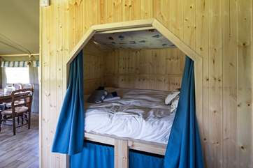 The delightful cabin bed, the little den that children will remember long after their holiday.