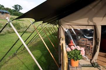Pitched in such idyllic surroundings, this is how to go Glamping.