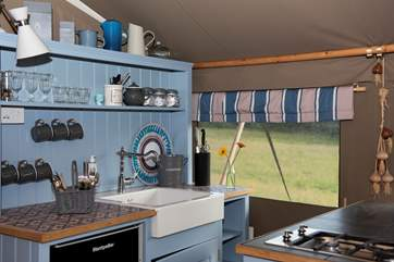 A fridge and a freezer, that's Glamping, not camping!