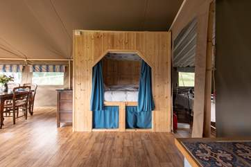 The cabin bed, the little den that children will remember long after their holiday.