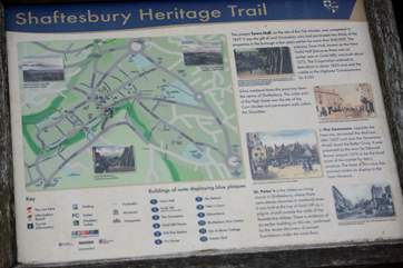 Take the walkng tour of nearby Shaftesbury, the views over The Blackmore Vale are impressive.