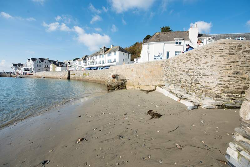This little beach appears right in town as the tide drops back.