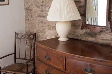 Vintage furniture mixes beautifully with more contemporary pieces.