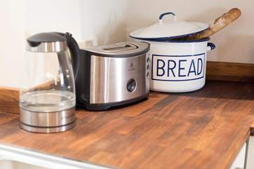 Plenty of kitchen equipment for creating memorable holiday feasts.