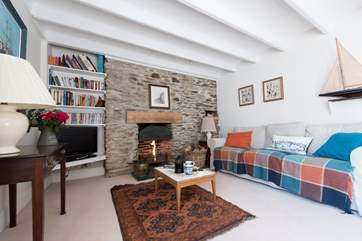 The sitting-room now has a wood-burner installed for super-cosy evenings in cooler months.