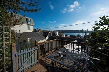 Fabulous views from the high raised deck (take care with children on the very steep steps).