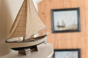 Pretty nautical touches throughout the house.