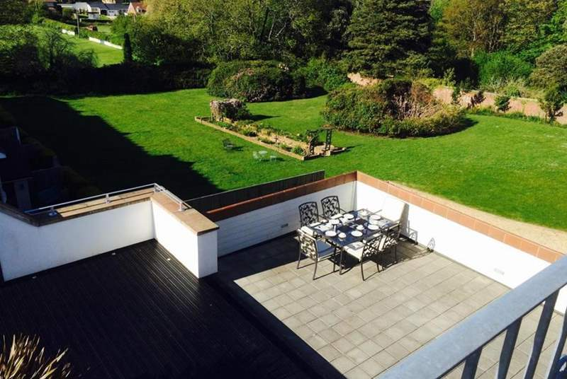The roof terrace overlooking local countryside.
