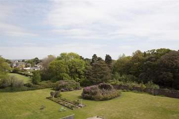 The Manor grounds as seen from the roof terrace.