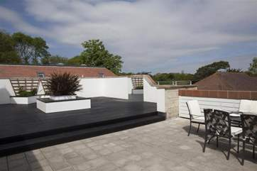 The roof terrace provides a large outside space.