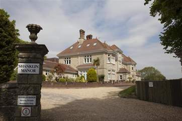 The entrance to the Manor.