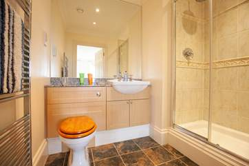 And the modern ensuite boasts a large shower.