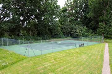 There's also a tennis court.