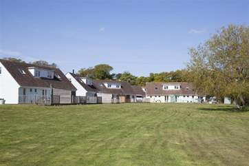 The complex is fairly small with only 28 properties based around a central green.