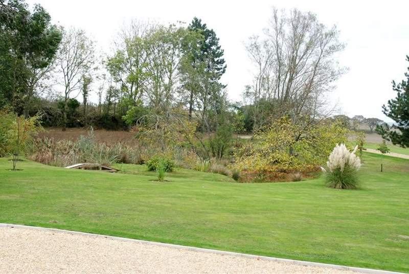 Mature gardens are in the grounds of the main house.