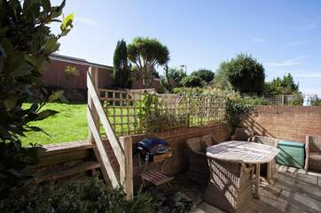 Grab the sausages and burgers and have an evening BBQ in the sunny garden