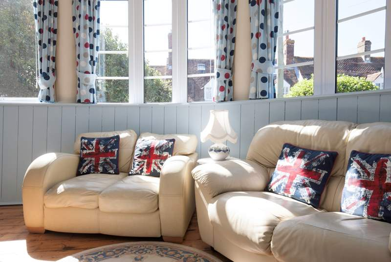 There is ample seating in the living-room to relax with your feet up, whilst reading a good book.