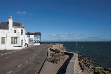 Step out of your front door onto the beautiful Seaview seafront.