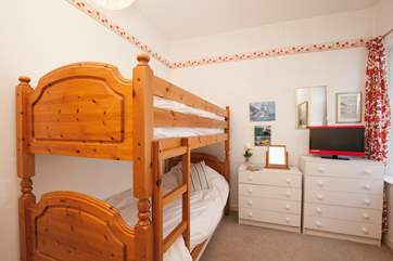 The third bedroom is a simple bunk room but great additional space, especially for the children.