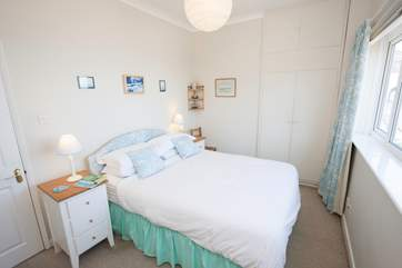 The master bedroom has spectacular views across the Solent to wake up to each morning.
