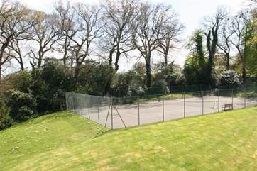 Communal use of the tennis court.