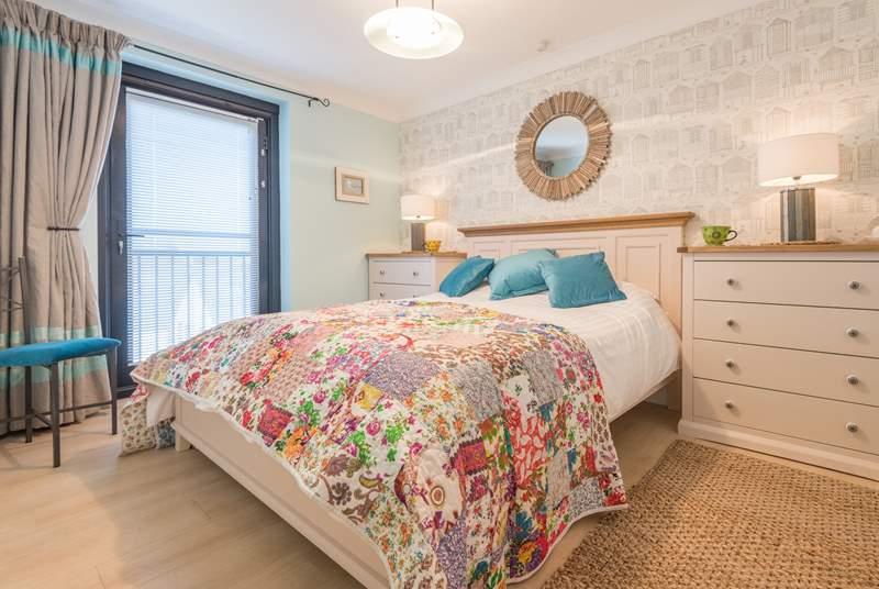 The sumptuous master bedroom has its very own balcony