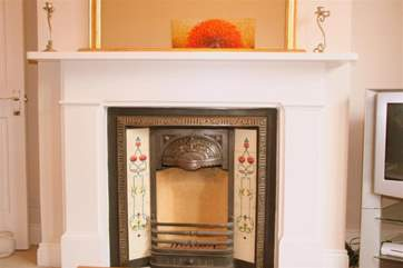 The ornamental feature fireplace.