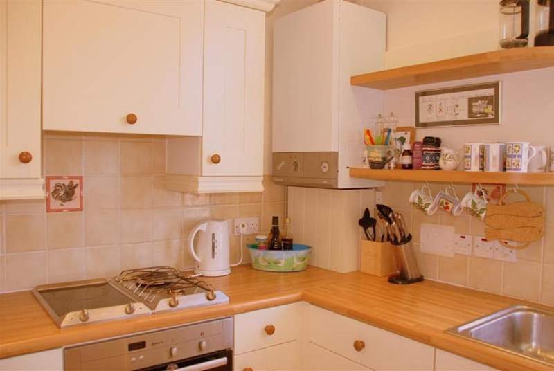 The kitchen is well equipped with everything you would need on your holiday