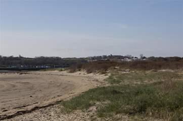 Bembridge sand dunes - just across the road!