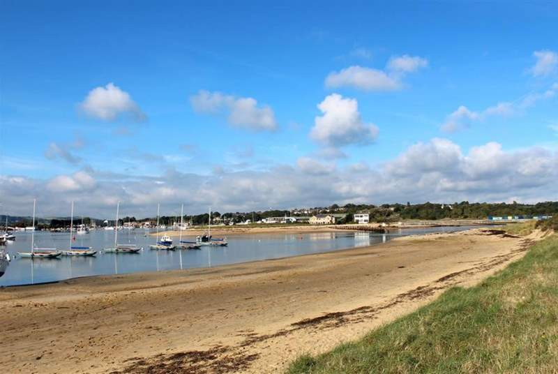Bembridge beach, adjacent to the harbour, offers incredible natural beauty.