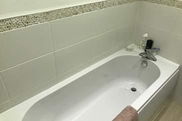 Enjoy a hot bubble bath