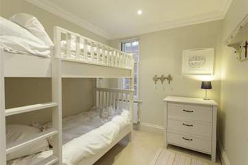 The bunk bedroom is a favourite with the children