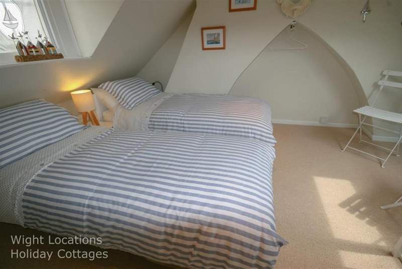 The attic twin room.