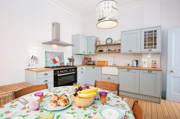 The delightful kitchen is well equipped with everything you will need to cook your favourite meals