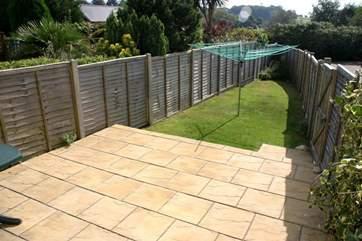 South facing Garden with patio