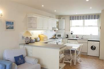 Dining area is in the open plan kitchen
