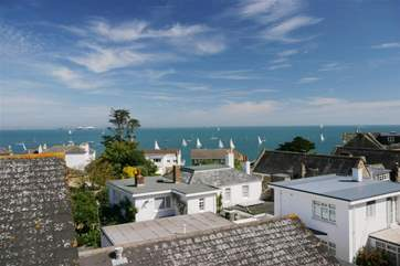 Gaze across the roof tops towards Portsmouth and Southsea
