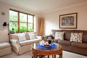 Plenty of space in the bright sitting room.